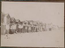 France, Loire-Atlantique, La Baule, Vue des cabanes sur la plages, ca.1900, Vint