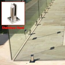 Floor Standing Balcony Pool Glass Spigot Post Balustrade Railing Clamp Stainless