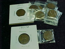 11 - 1937 P & 2 - 1937 D LINCOLN WHEAT PENNIES   13 COINS