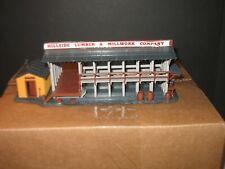 Vintage Ho Scale Hillside Lumber & Millwork Company Train Building Assembled