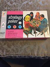 VINTAGE 1968 MILTON BRADLEY STRATEGY POKER GAME