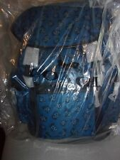 NWT COACH F57476 DENIM FLORAL TREK PACK BACKPACK NYLON & LEATHER MSRP $450