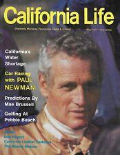 California Life Magazine Paul Newman Car Racing Water Shortage Pebble Beach 1977