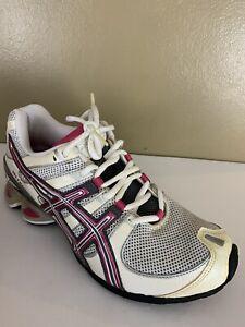 Asics Gel Frantic 5 Women's Size 7 White Grey Pink Running Shoes