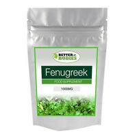 Fenugreek 1000mg 100 Tablets Better Bodies None Capsules High Strength Formula