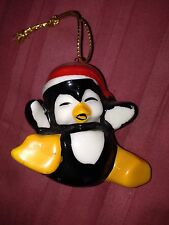 "Penguin Ceramic Christmas Tree Ornament - So Cute Approximately 2""x2"""