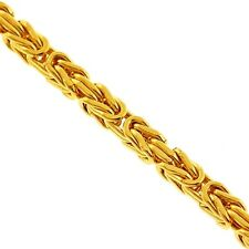 Solid 14K Yellow Gold Byzantine Mens Chain Necklace 2.5 mm 22 inches Italian