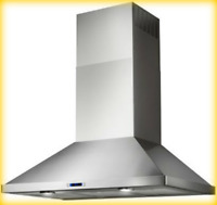 Stainless Steel EVR636SS Elica Varna Wall Mount Chimney Range Hood 36 Inch #2430
