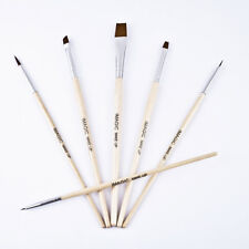 6PCS Makeup Face Body Paint Wooden Brushes Cosmetic Nail Art Painting Beauty