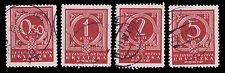 1941 CROATIA POSTAGE DUE #J6-J9 - USED - VF - CV$2.70 - COURTESY LISTING(E#1239)
