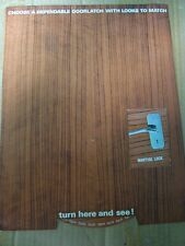 Old vintage Godrej co. Latch Locks Catalogue from India 1960