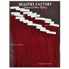 Super Adhesive Tape in Weft Human Hair Extension Salon Bug Pure Burgundy Hair513