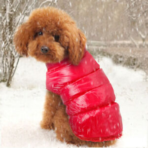 Small Dog Coats for Winter Waterproof Pet Clothes Fleece Warm Jacket Yorkie Pug