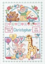 Dimensiones-Cross Stitch Kit-registro de nacimiento-Para Bebé-D13650