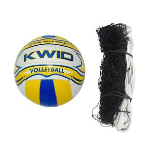 Combo of  Volleyball and Nylon Volleyball Net Pack of 1 net and 1 Volleyball KU