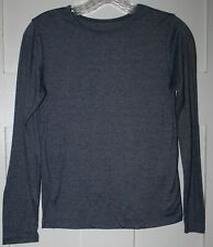 Girl's Grey Long sleeved Crew Neck T-Shirt  Size L