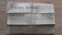 Journal Nationalist L Action Figure French 13 Mars 1934 N° 72 ABE