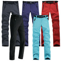 Softshell Waterproof Thicken Pants Hiking Climbing Ski Fleece Trousers For Woman