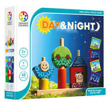 Day and Night Logic Puzzle - Smart Games Wooden Brainteaser for Young Children