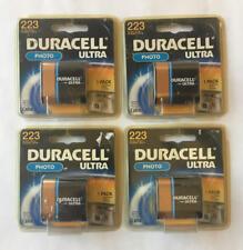 4 Duracell Ultra 223 batteries, Exp 2015/2017