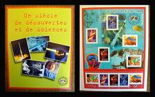 """Bloc timbres: """"Un siècle de découvertes et de sciences"""" Neuf"""