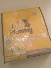 Tadpoles Baby Boy Girl Mommy and Me Yellow Grey Chevron Blanket Set Elephant