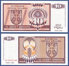 Croatia/krajina 10 dinara 1992 UNC p. r1