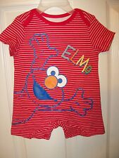 Sesame Street Elmo Short Romper One PC Baby Girls Boys Size 3 / 6 Months NWT