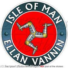 "ISOLA di Man ellan vannin TT Corse UK 100mm (4"") Adesivo in Vinile Sticker x1"