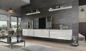 Modern Living Entertainment Wall Unit TV Stand BOXING 6 Gloss - 2 Colours
