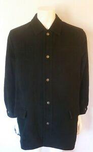 Vintage 90's Versace Jeans Couture Black Medusa Buttons Jacket-3/4Coat Sz Large