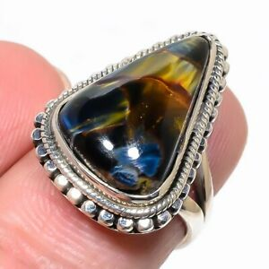 Pietersite Gemstone Handmade 925 Solid Sterling Silver Jewelry Ring Size 6