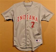 INDIANA HOOSIERS #7 GRAY BUTTON-DOWN COLLEGE BASEBALL JERSEY