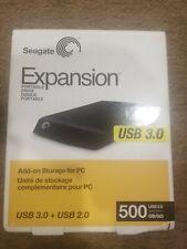 "Seagate 500GB 2.5"" Expansion Portable External Hard Drive, USB 3.0 #STEA500400"