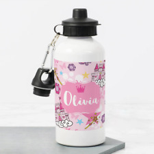 Personalised Princess Castle Scene 400ml Kids Children's Water Drinks Bottle