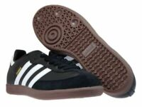 Men adidas Samba 019000 Black White Leather Suede Soccer Shoes New 100%Authentic