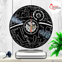 Exclusive Star Wars Death Star Vinyl Record Wall Clock Art Birthday Party Gift