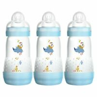 MAM Anti-Colic Baby Boy's Bottle 260ml  - 3 Pack
