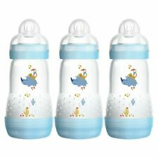 MAM Anti-Colic Baby Boy's Bottle 260ml  - 3 Pack - Warehouse Clearance