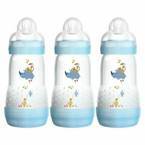 MAM Anti-Colic Baby Boy's Bottle 260ml  - 3 Pack
