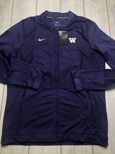 New Nike Mens Washington Huskies Hybrid Jacket Size Large Purple