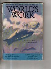 1928 World's Work November - Zeppelins; New England ghosts; Mexico; Alaska