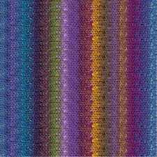 NORO ::Taiyo #96:: cotton silk wool yarn Blue-Purple-Violet-Orange-Nut
