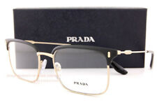 Brand New Prada Eyeglass Frames 55VV 280 Black/Gold Size 55 For Men