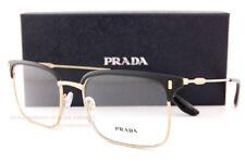 Brand New Prada Eyeglass Frames 55VV 280 Black/Gold Size 55 For Men