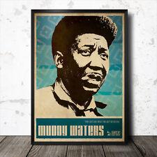 Muddy Waters Blues Art Poster B.B. King Howlin' Wolf John Lee Hooker Lead Belly