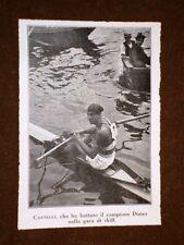 Como nel 1920 Campionato Canottaggio Castelli batte Dones Gara Skiff Canottieri