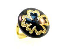 Ricarda M Designer Ring Metall vergoldet mit 18 Zirkonia