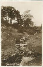 Postcard posted 1938 Lancashire Blackburn Corporation park The stream Real photo