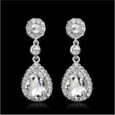Tier Drop Clear Austrian Rhinestone Crystal Dangle Earrings Bridal Prom Wed E14